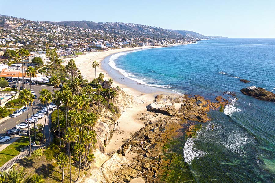 Laguna Beach CA - Aerial View of Laguna Beach California