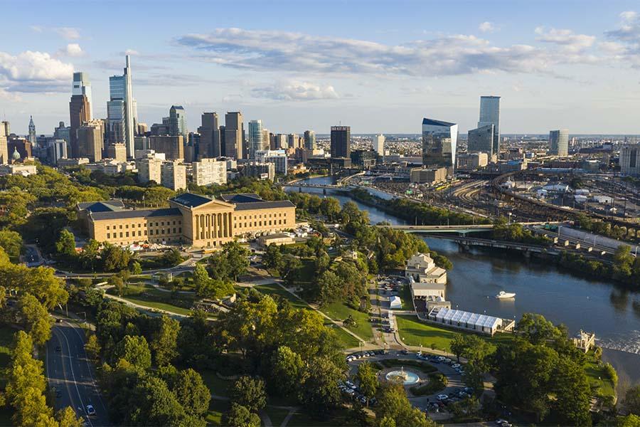 Pennsylvania - Aerial View of City of Philadelphia in Pennsylvania